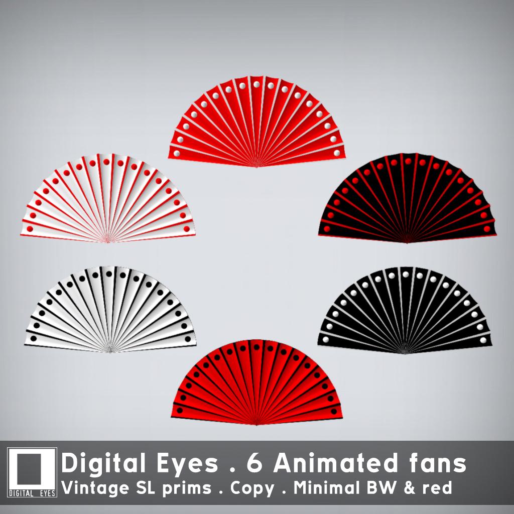 Digital Eyes - Animated fan - Minimal BW & Red - SecondLifeHub.com