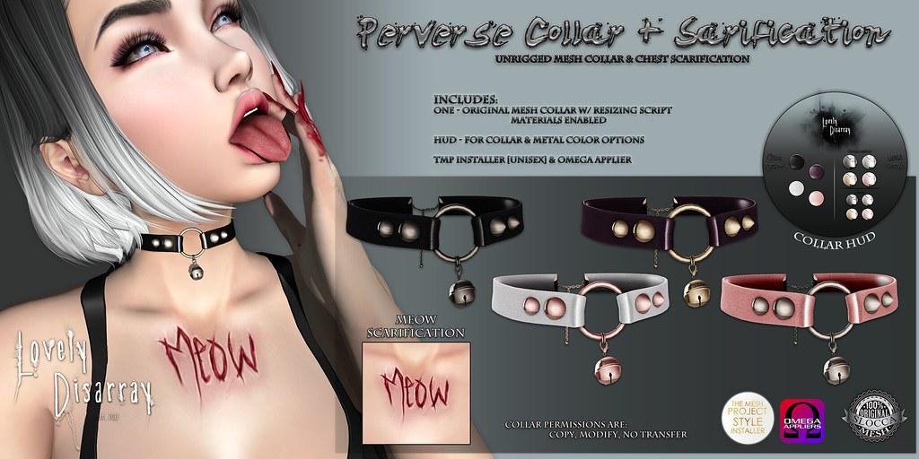 Lovely Disarray - Perverse Collar + Scarification Set [AD] - SecondLifeHub.com