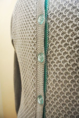 Tuck Stitch Button Back Jumper