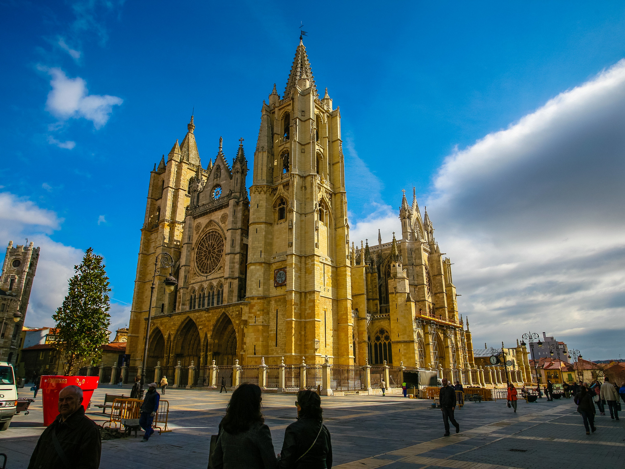 Sunny Cathedral of Leon. | Flickr - Photo Sharing!