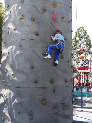 Henry Climbs Rock Wall