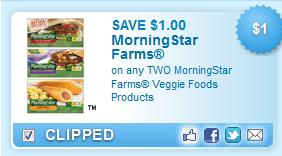 Morningstar Farms Veggie Foods Coupon
