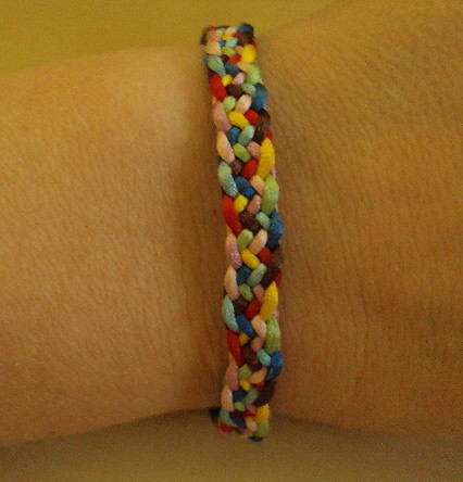Pulsera kumihimo plano. | Flickr - Photo Sharing!