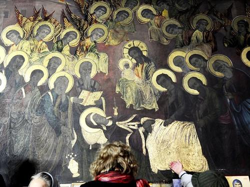iconos brillantes de la iglesia de skopje
