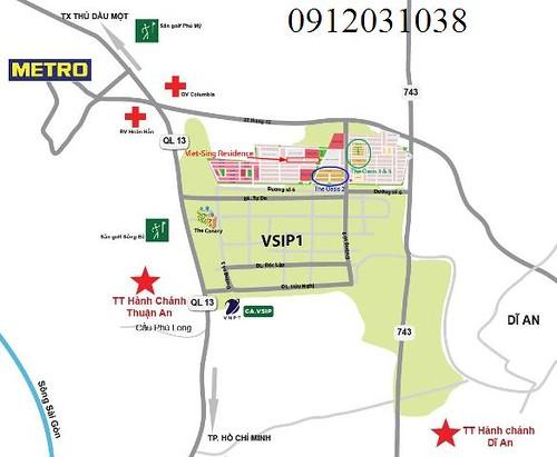 Bán đất Bình Dương sát Thủ Đức, lô đất đối diện trung tâm thương mại 4, 7 tr/ m2