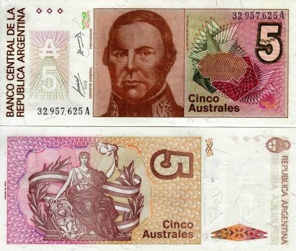 5 Australes Argentína 1985-89, Pick 324