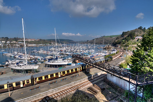 Steam train at Kingwear looking towards Dartmouth - Western Morning New Calendar Front Page 2014