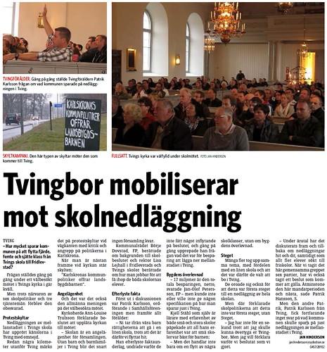 2012-04-11 Sydöstran, Artikel