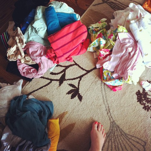 {Day 21} #standing amid post-trip laundry hell #mayphotoaday