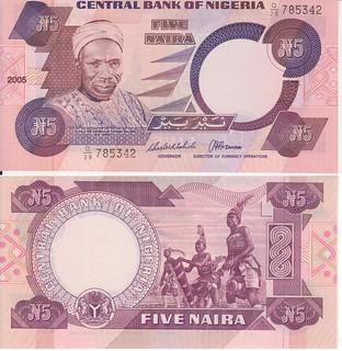 Nigeria Five Naira banknote