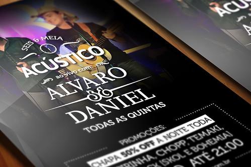 Flyer - Alvaro & Daniel Acústico (perspectiva) by chambe.com.br