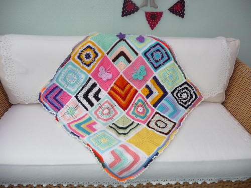 The Squares were so colourful and I have just got round to making the third Blanket up!