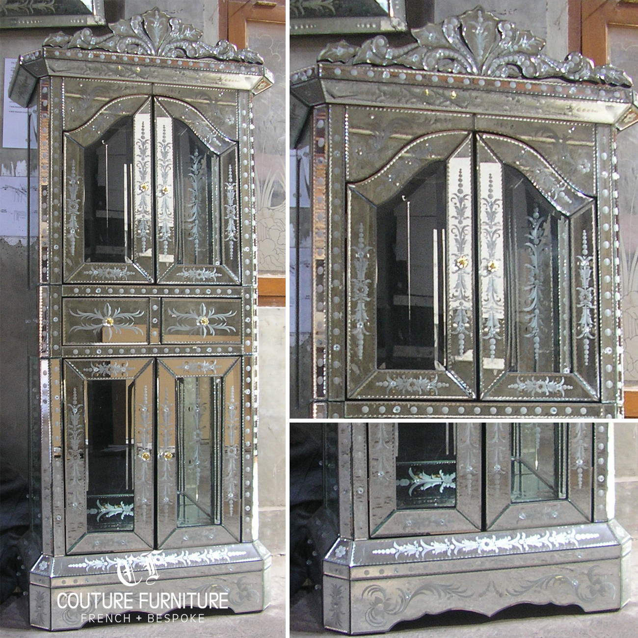 Image Result For Venetian Mirrored Bedroom