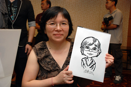 Caricature live sketching for The Bank of East Asia Staff Annual D&D - 7