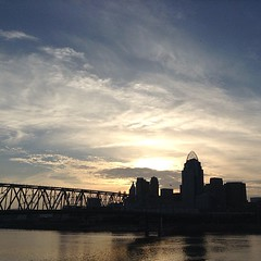 Glorious #sunset over #cincinnati.