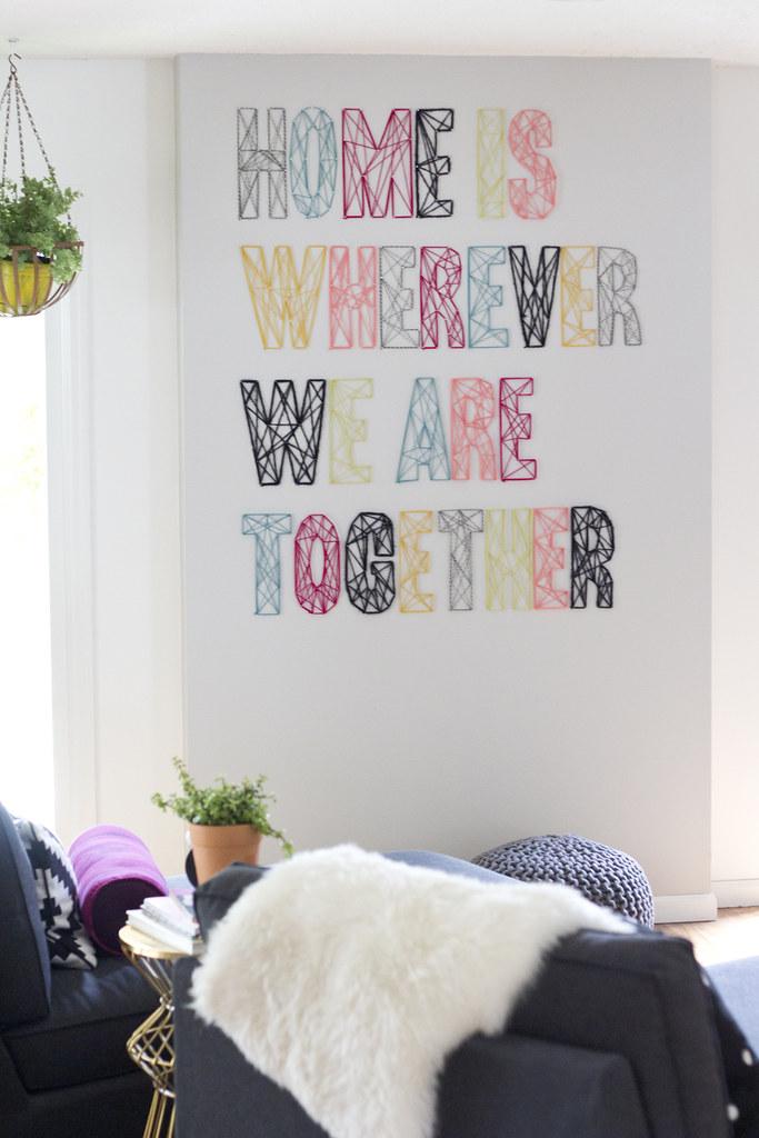 Nail yarn wall art pt 2 jen loves kev for Yarn wall art