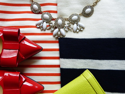 red, white + striped