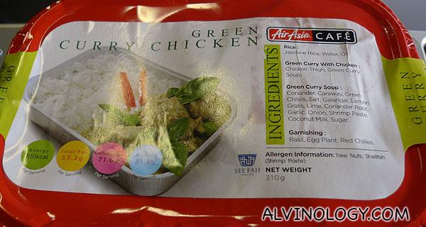 Green chicken curry