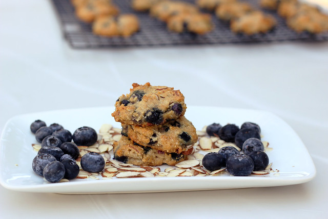 Grain-Free Blueberry Almond Breakfast Cookies - Gluten-free + Vegan
