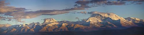 china sunset mountain tibet range darchen gurlamandhata