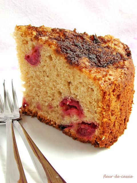 вишневый сметанный пирог 4