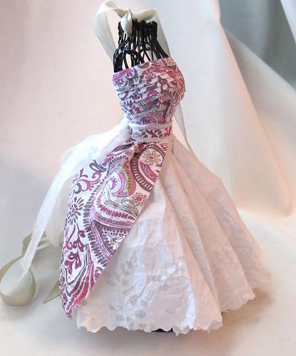 paisley paper dress