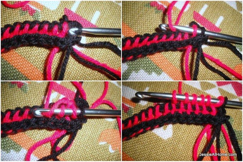 Moe-Tunisian-crochet-hat-row-2-part-1