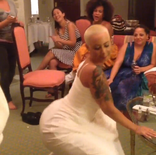 Move Over Miley Cyrus: Amber Rose Twerks In Her Wedding Dress
