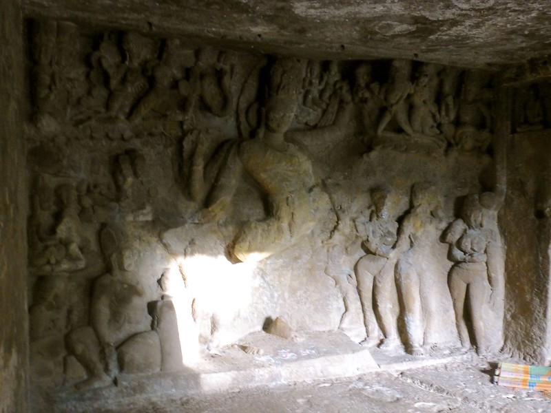 Mandapeshwar Caves - carving of shiva in Nataraja position