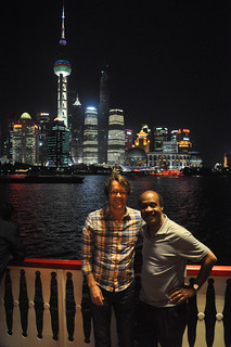 The CE Ike Leggett and Councilmember Hans Reimer at Pudong New Economic Area