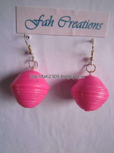 Handmade Jewelry - Paper Quilling Globe Earrings (4) by fah2305