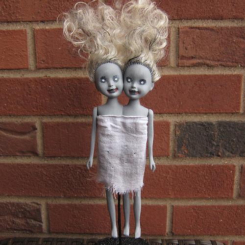 Zombie Siamese Twin Dolls
