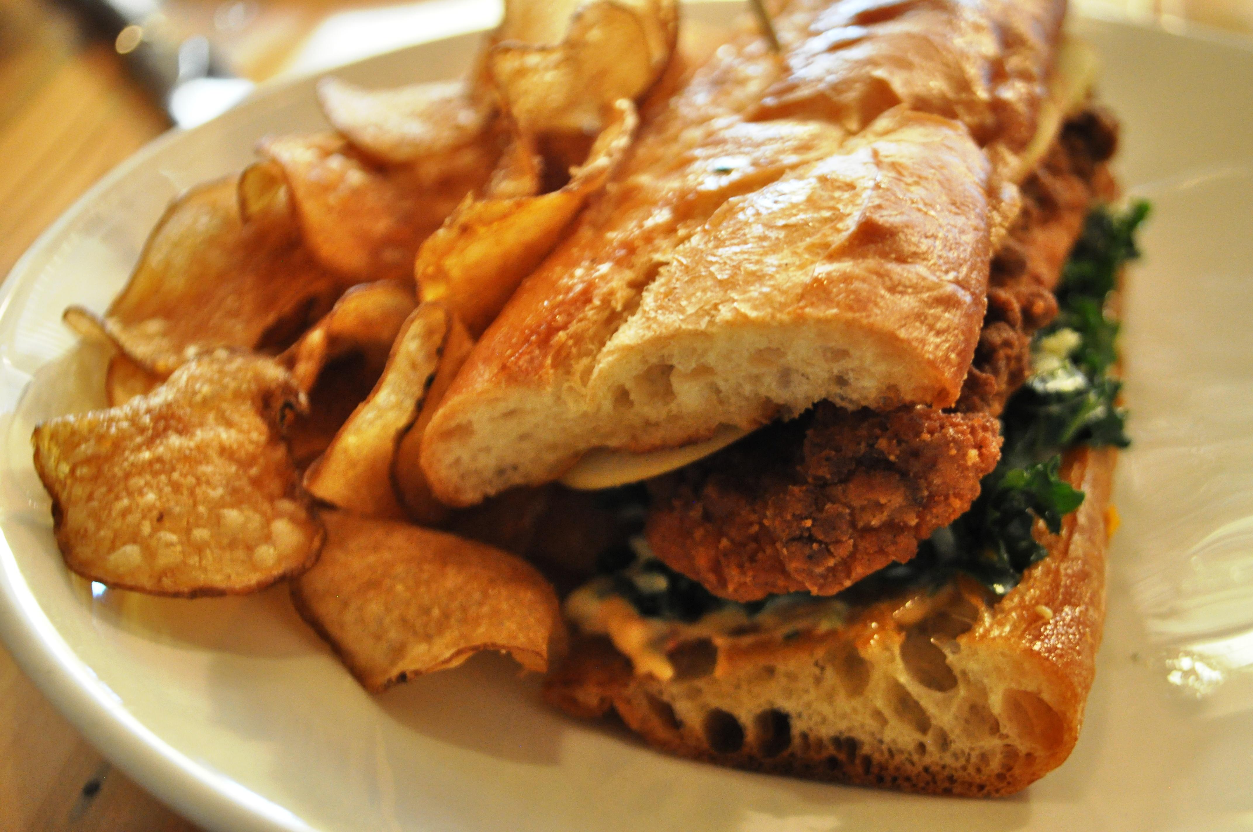 Deep-Fried Catfish Sandwich, Local Roots Restaurant, Roanoke, VA, April 2014 #OldSchoolVA #LoveVA