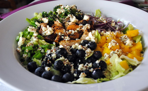 Mango Chicken Salad with Blue Cheese Vinaigrette