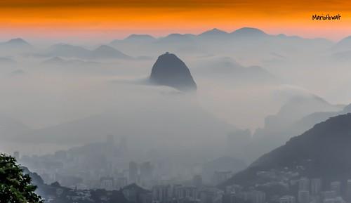 brazil brasil riodejaneiro sunrise natureza alvorada amanhecer névoa vistachinesa morrodopãodeaçucar bondinhodopãodeaçucar mesadoimperador mirantesdoriodejaneiro