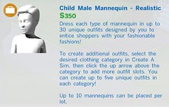 Child Male Mannequin Realistic
