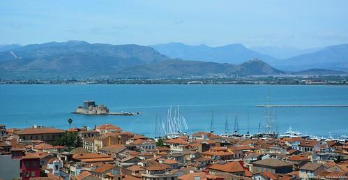 town hellas greece nafplio peloponnese palamidi argolida peloponnisos mpourtzi