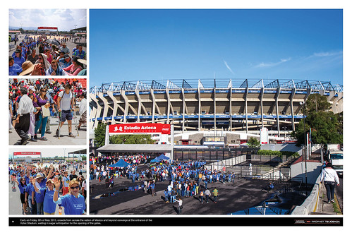 Early on Friday 8th May 2015, crowds from across the nation of Mexico and beyond converge at the entrance of the Aztec Stadium, waiting in eager anticipation for the opening of the gates.