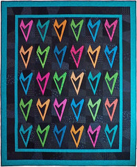 Love Me True Custom Quilt by Whimzie Quiltz and More