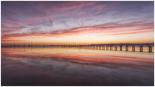 RissaJT_23 posted a photo:Sunrises over the Geelong Waterfront as fishermen go about their daily catch
