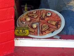 This must be the Sweeney Todd Deluxe pizza.