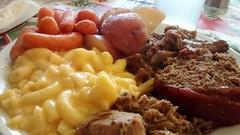 Village Station Buffet Plate.
