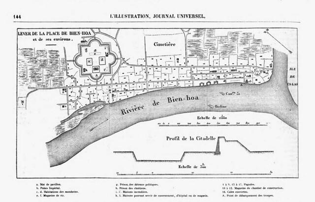 LEVER DE LA PLACE DE BIEN-HOA et de ses environs - Họa đồ Biên Hòa và vùng phụ cận, Tháng 12/1861