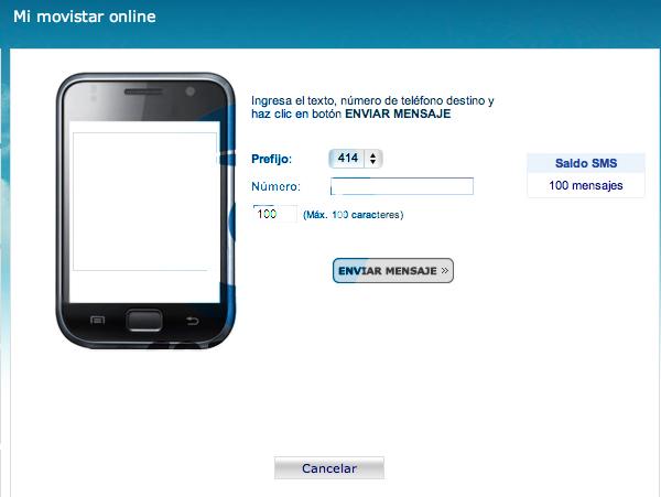 Veras ahora esta nueva interfaz de Movistar On Line , selecciona el