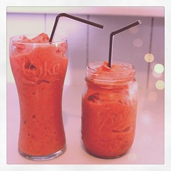 Strawberry mint smoothies from earlier this week