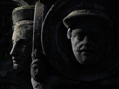 Three heads watching
