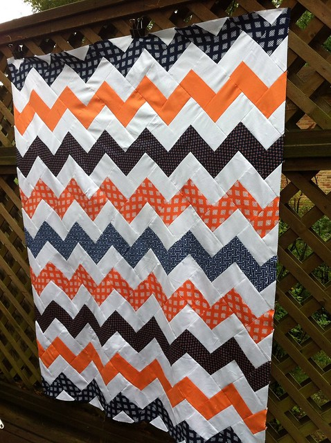 Orange & Navy chevrons
