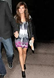 Ashley Tisdale Tie Dye Dress Celebrity Style Women's Fashion