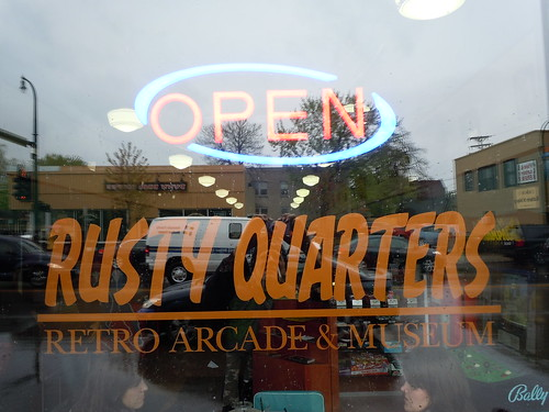 04-21-12 Rusty Quarters Arcade, Minneapolis, MN (Window)