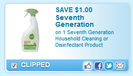 Seventh Generation Household Cleaning Or Disinfectant Product  Coupon